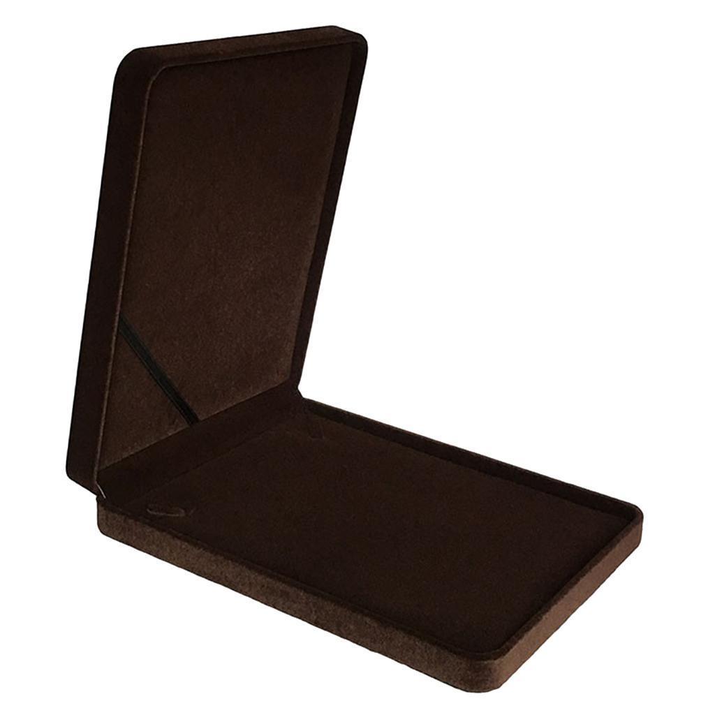 Portable-Velours-Collier-Boite-Chaine-Vitrine-Boite-cadeau-Voyage-Bijoux miniature 16