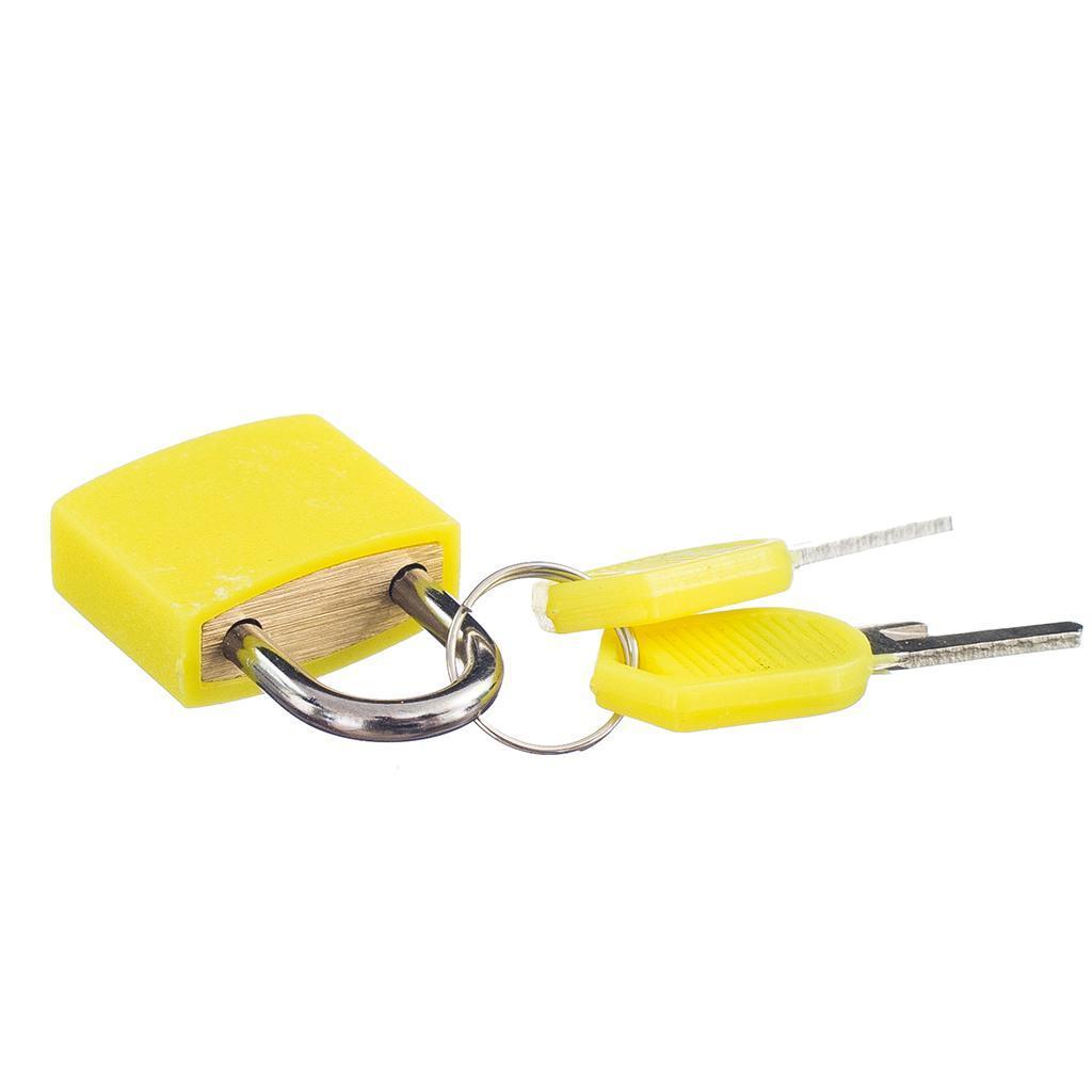 miniatura 10 - Lucchetto Piccolo Blocco Con 2 Chiavi Per Bagaglio Valigia Ventiquattrore