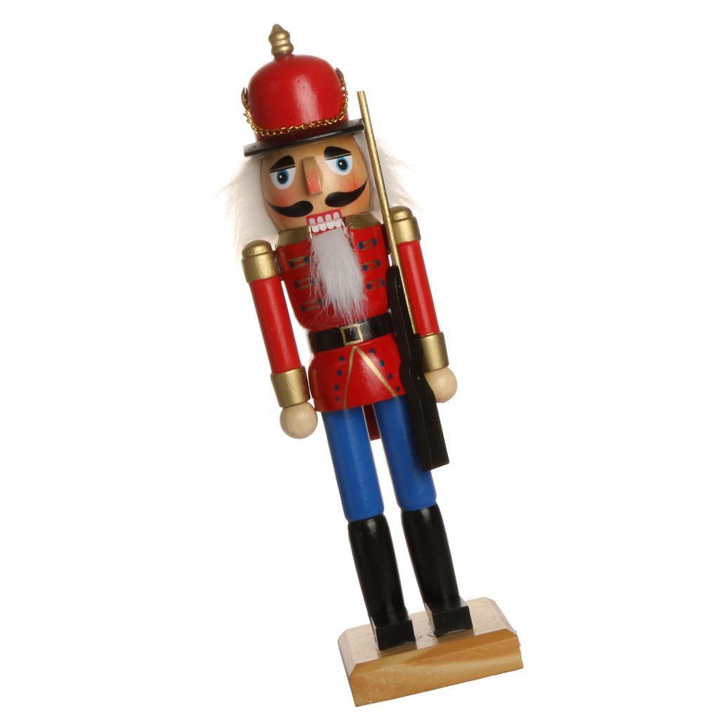 Handpainted Wooden Nutcracker Figures Xmas//Desktop Ornament Holiday Decor Toy
