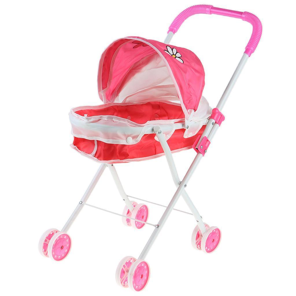 Foldable-Simulation-Pushchair-Stroller-Buggy-Pram-Pretend-Parent-Kids-Role-Play miniature 16