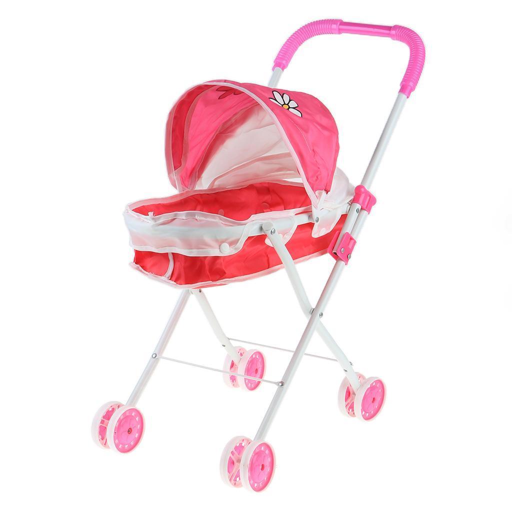 Foldable-Simulation-Pushchair-Stroller-Buggy-Pram-Pretend-Parent-Kids-Role-Play miniature 17