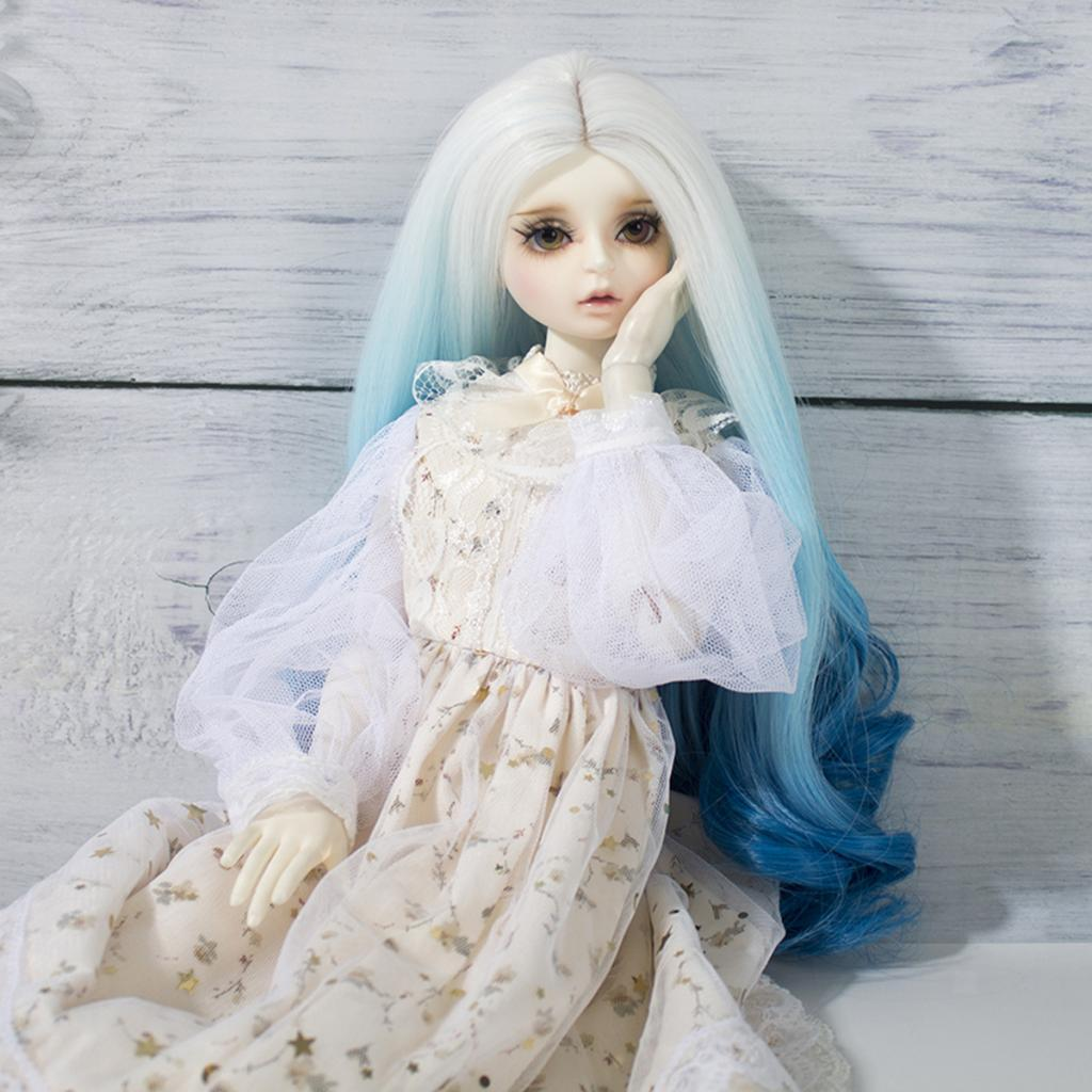Long-Curly-Wig-30cm-for-Night-Lolita-for-Dollfie-for-MSD-1-3-1-4-BJD-Doll thumbnail 15