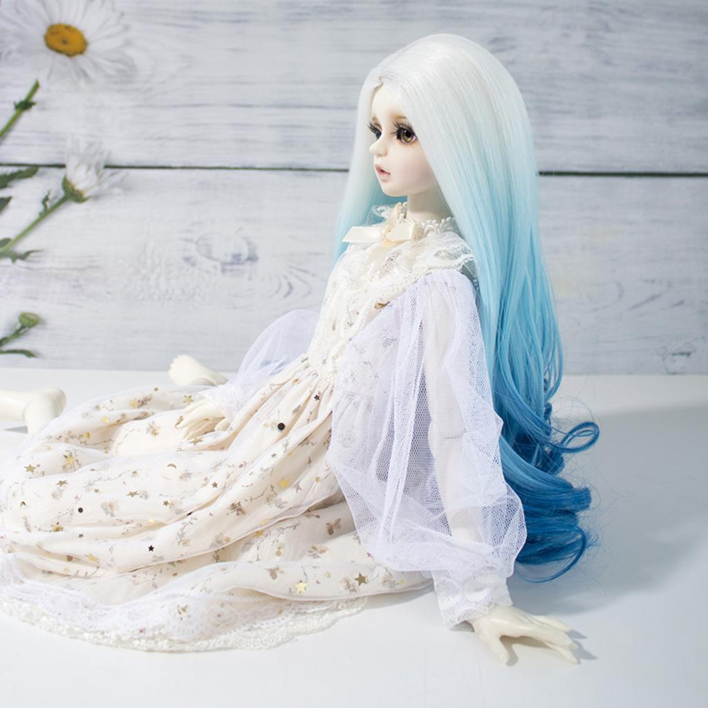 Long-Curly-Wig-30cm-for-Night-Lolita-for-Dollfie-for-MSD-1-3-1-4-BJD-Doll thumbnail 16