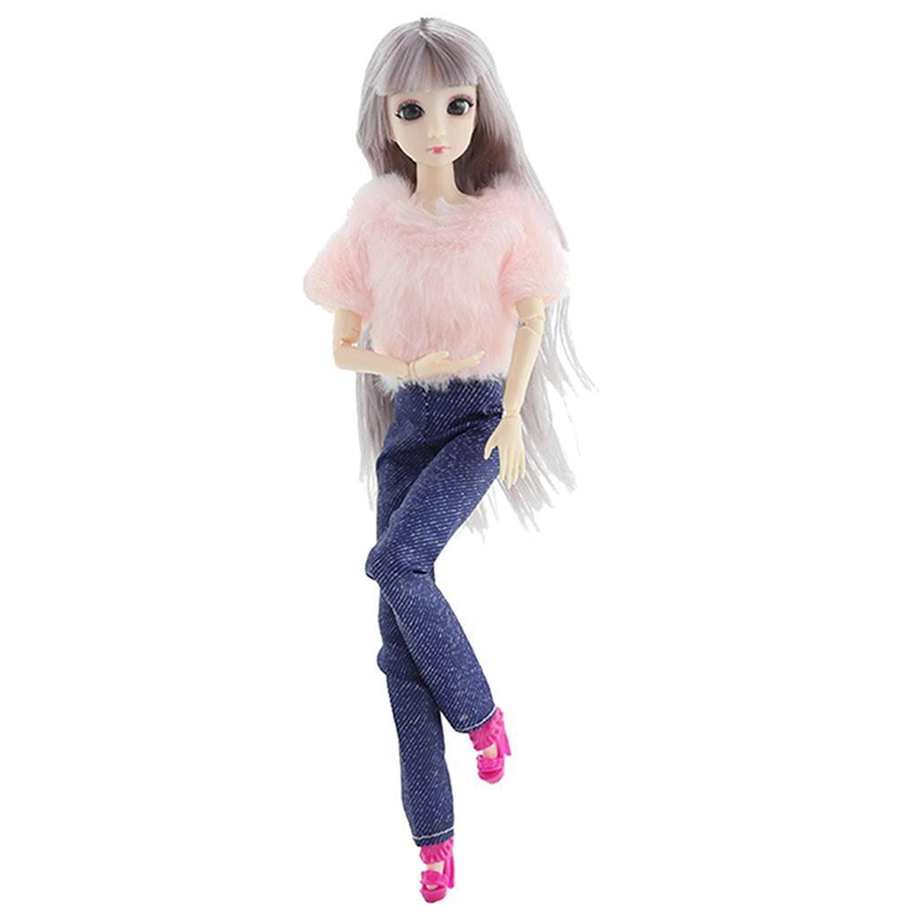 20-Ball-Joint-Dolls-3D-Eyes-w-Outfit-Fashion-Cute-Girl-Xmas-Gifts-White-Toy thumbnail 3