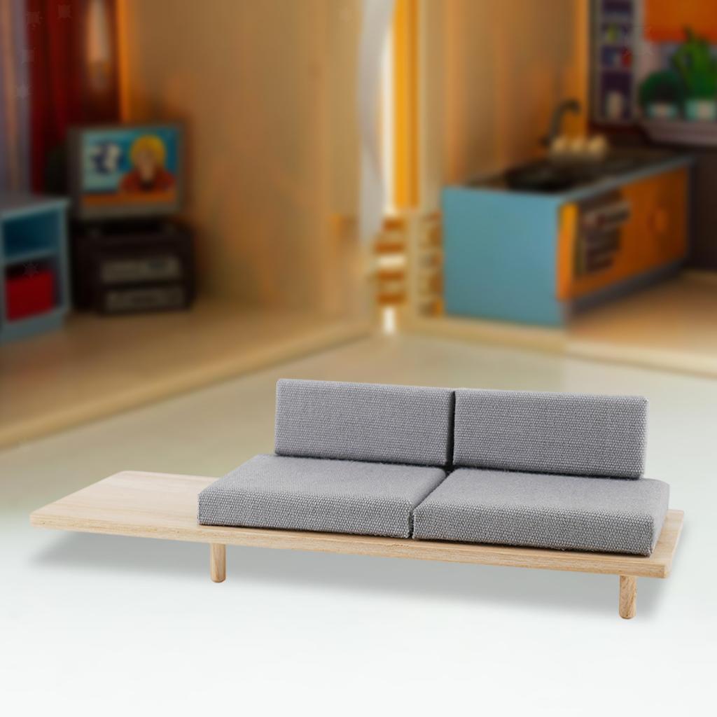 miniatura 10 - Mini Divano Modello Dollhouse Divano per la Miniatura Camera Da Letto
