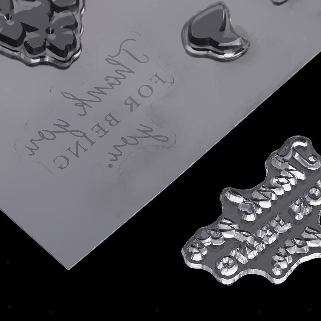 Transparente-Silikon-Gummidichtung-Stempelhaftung-fuer-DIY-Album-Diary-Scrapbook Indexbild 6