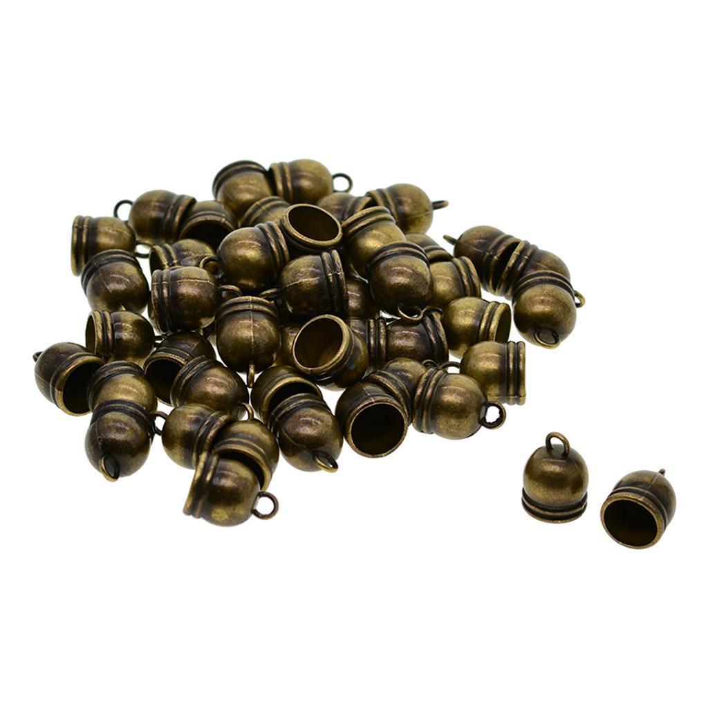50-pcs-Glocke-Metallperlen-Perle-Quaste-Kappen-Perlenkappen-Fuer Indexbild 8