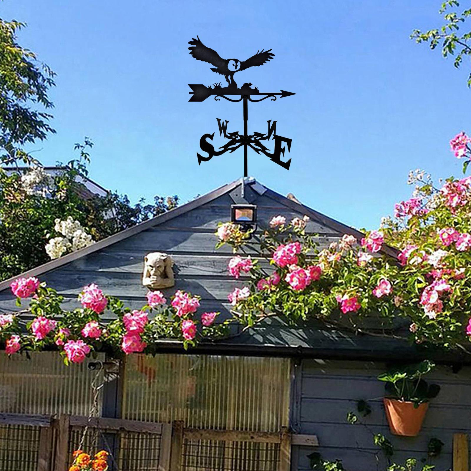 Metal Roof Mount Weather Vane Decorative Farm Scene Garden Stake Weathervane