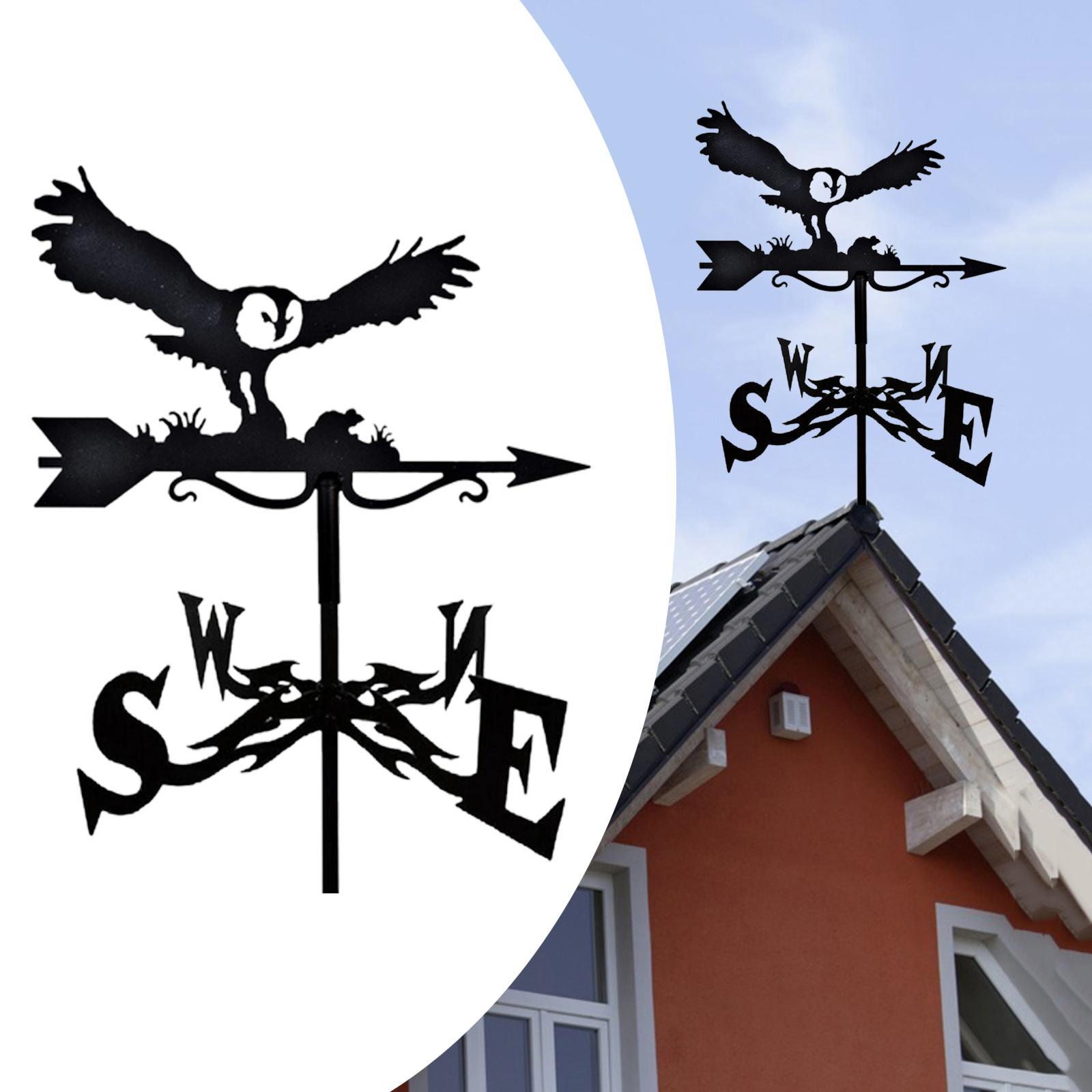 Metal Craft Weather Vane Decorative Stake Weathervane for Garden Yard Patio