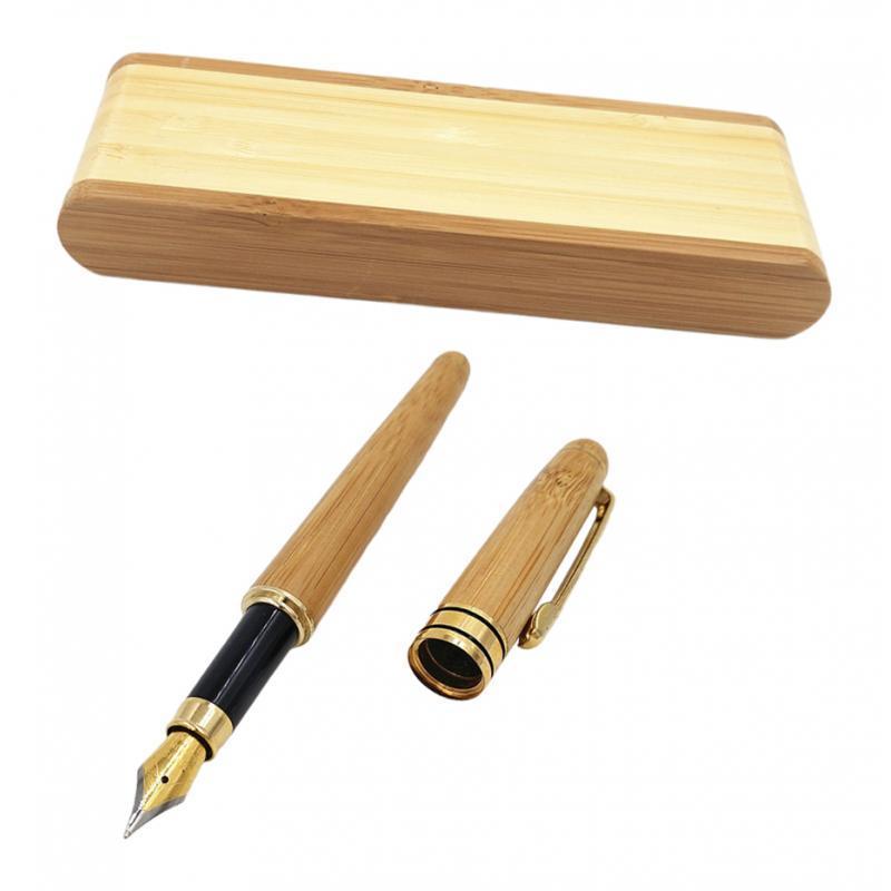 Natural-Bamboo-Pen-Gift-Set-Smooth-Gift-Box-Ideal-Birthday-Business-Gift thumbnail 6