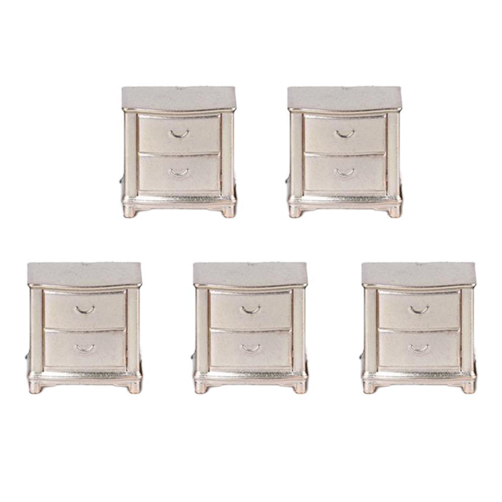5x-Mini-comodino-1-25-per-casa-delle-bambole-accessori-per-mobili-per miniatura 3