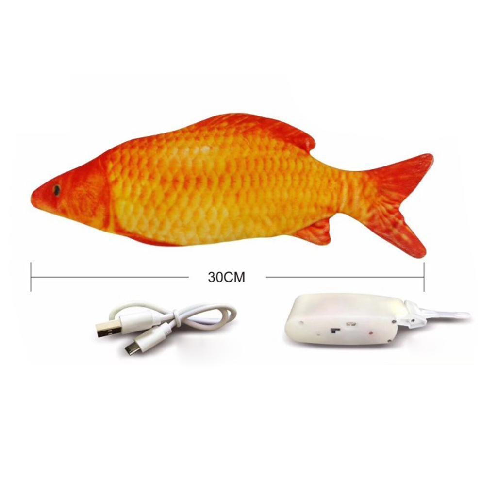Indexbild 18 - Elektrische Simulation Fisch Haustier Katze Spielzeug Kinder Spielzeug USB Lade