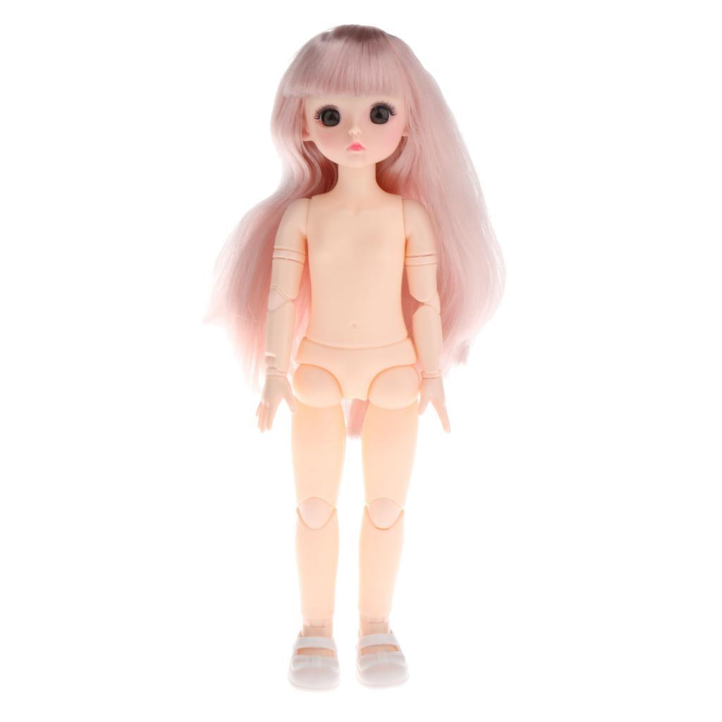 1-6-BJD-Doll-Body-3D-Big-Eyes-White-Skin-Girl-Dolls-Kids-Toys-DIY-Parts thumbnail 20