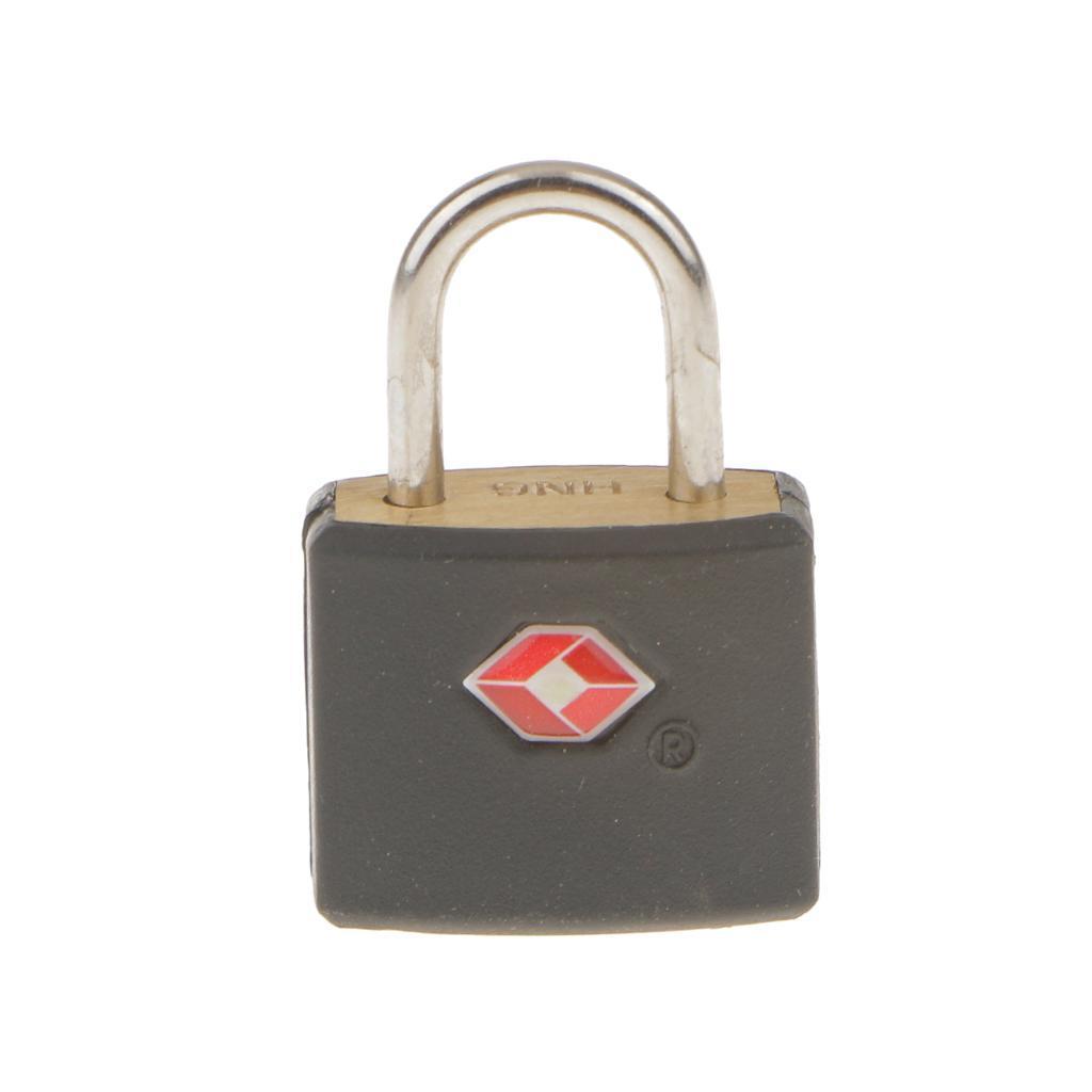 miniatura 7 - Lucchetto in metallo resistente Borsa da viaggio per valigia con chiave di