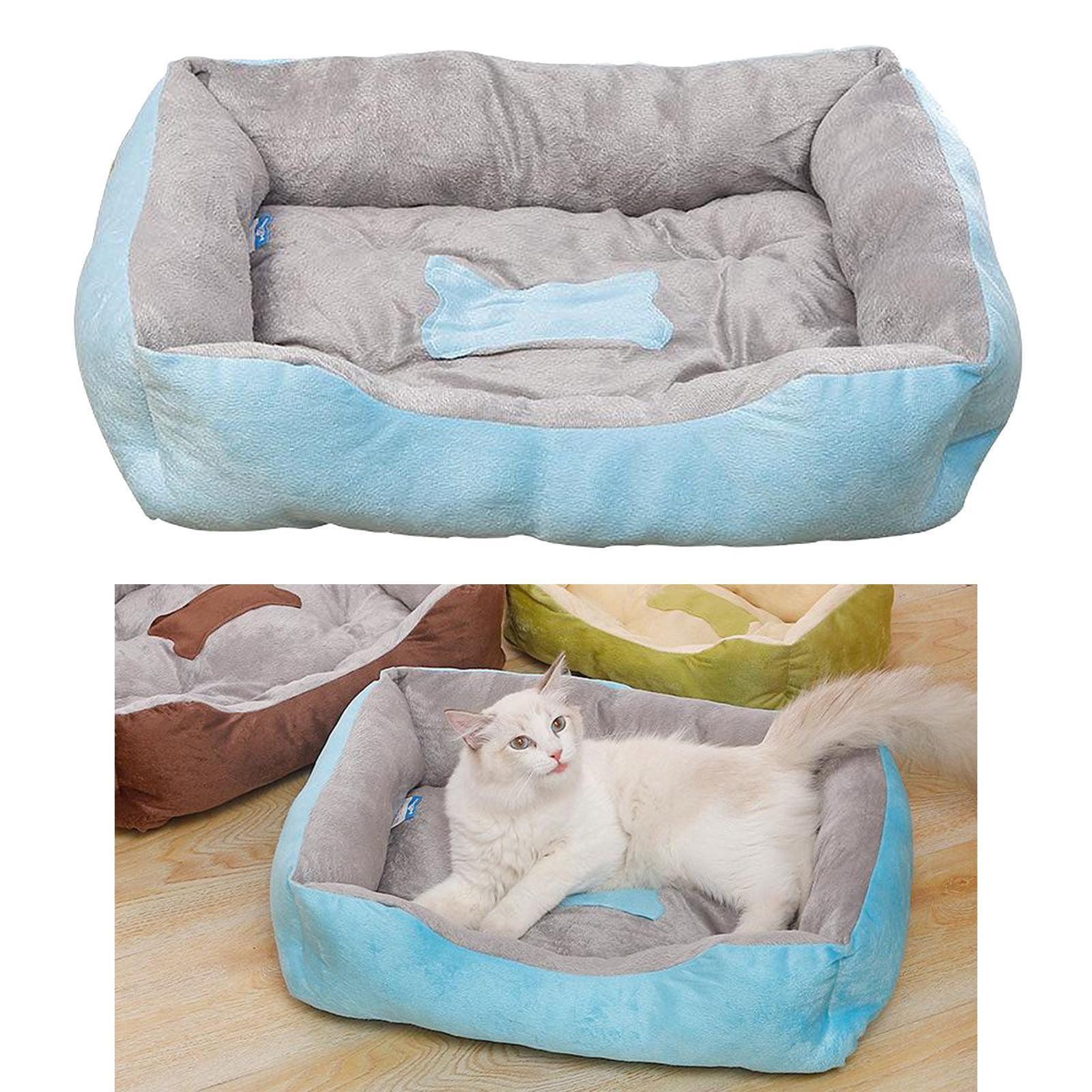 Indexbild 73 - Katze-Hund-Bett-Pet-Kissen-Betten-Haus-Schlaf-Soft-Warmen-Zwinger-Decke-Nest