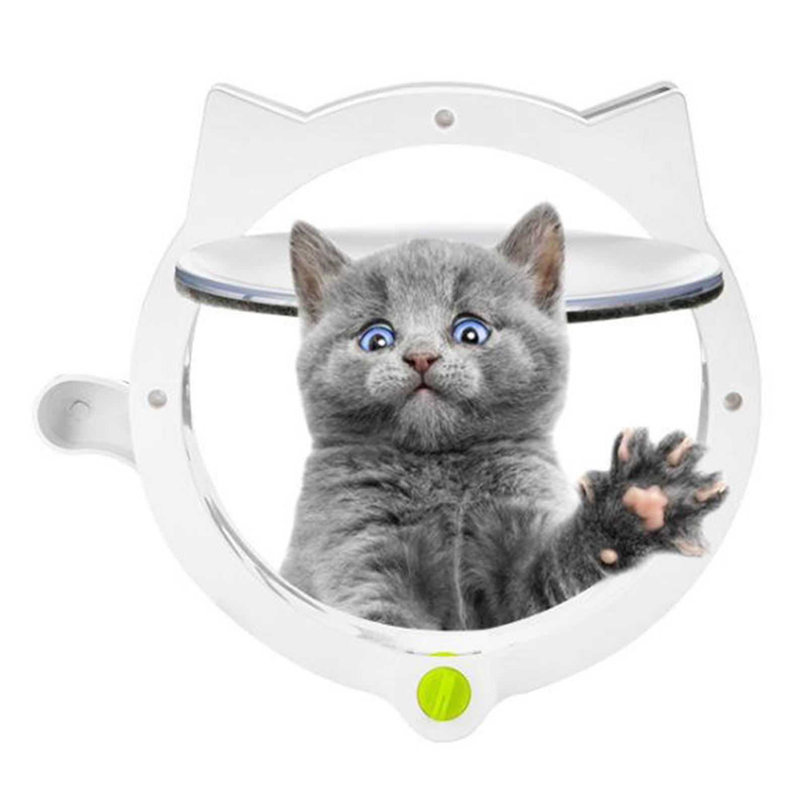 Cat Door For Pets With 4 Way Locking Cat Flap For Interior Exterior Doors Wall Ebay