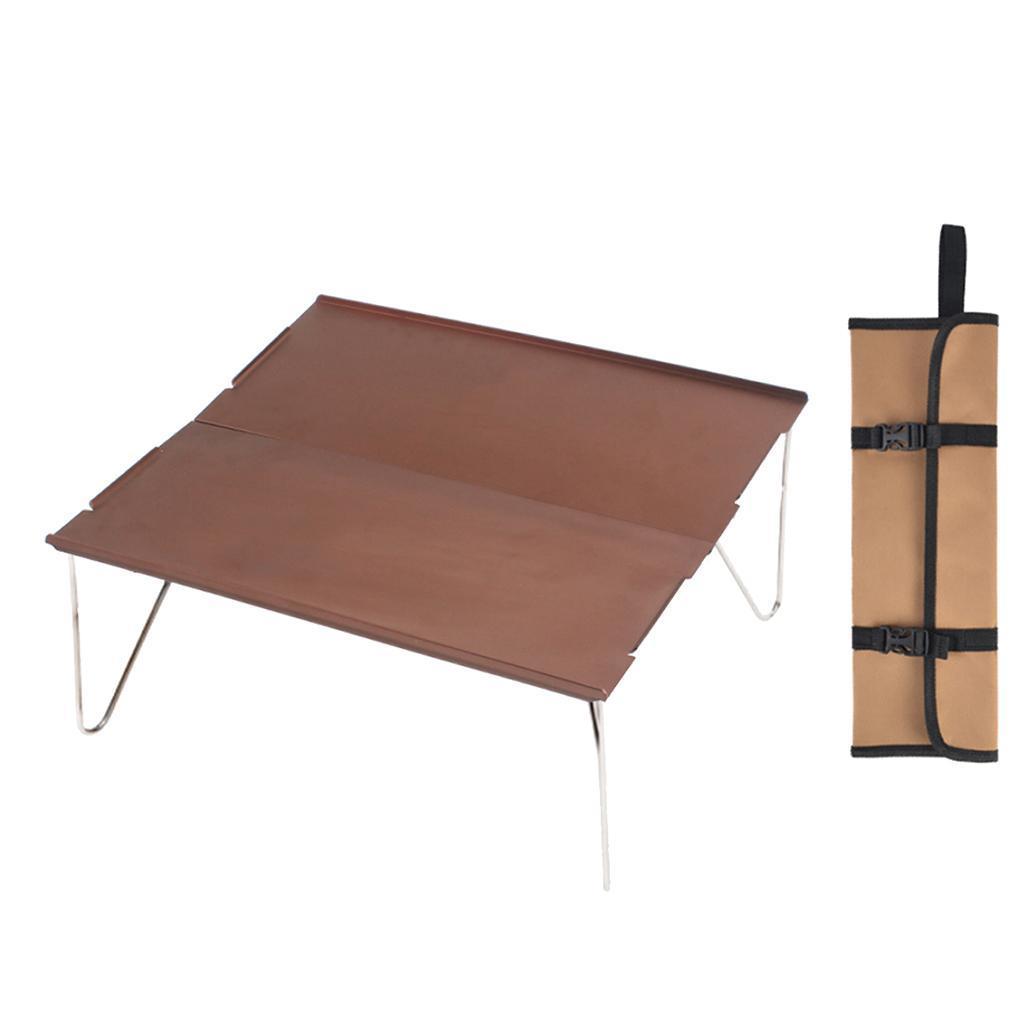 miniatura 10 - Piccolo tavolo da campeggio pieghevole leggero barbecue per roulotte da picnic