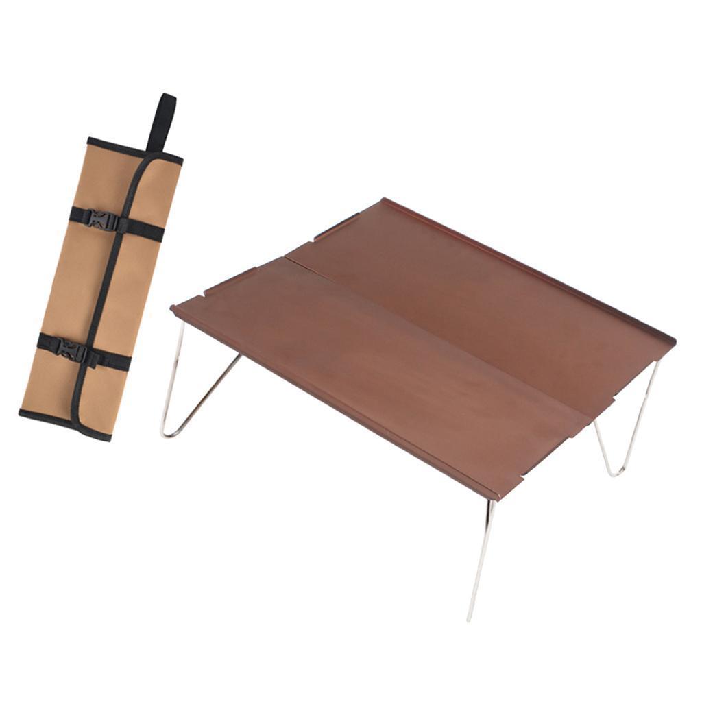 miniatura 9 - Piccolo tavolo da campeggio pieghevole leggero barbecue per roulotte da picnic