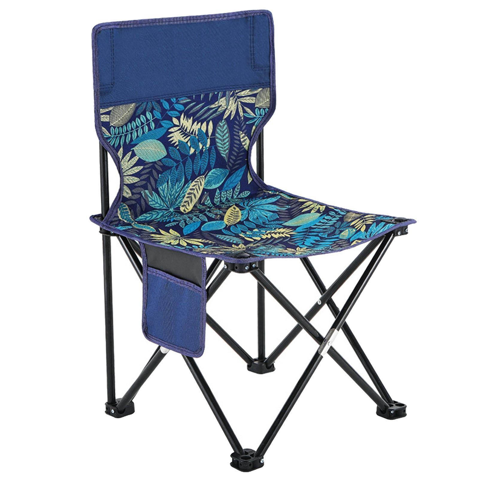miniatura 3 - Sedia-da-campeggio-pieghevole-Sedia-da-spiaggia-Sgabello-da-pesca-Picnic-Outdoor