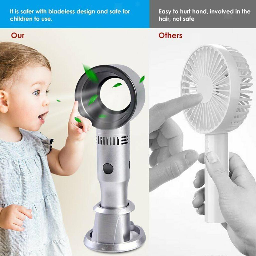 miniature 14 - Refroidisseur-d-039-air-d-039-usb-2000mAh-de-ventilateur-a-trois-vitesses-de-bureau-san