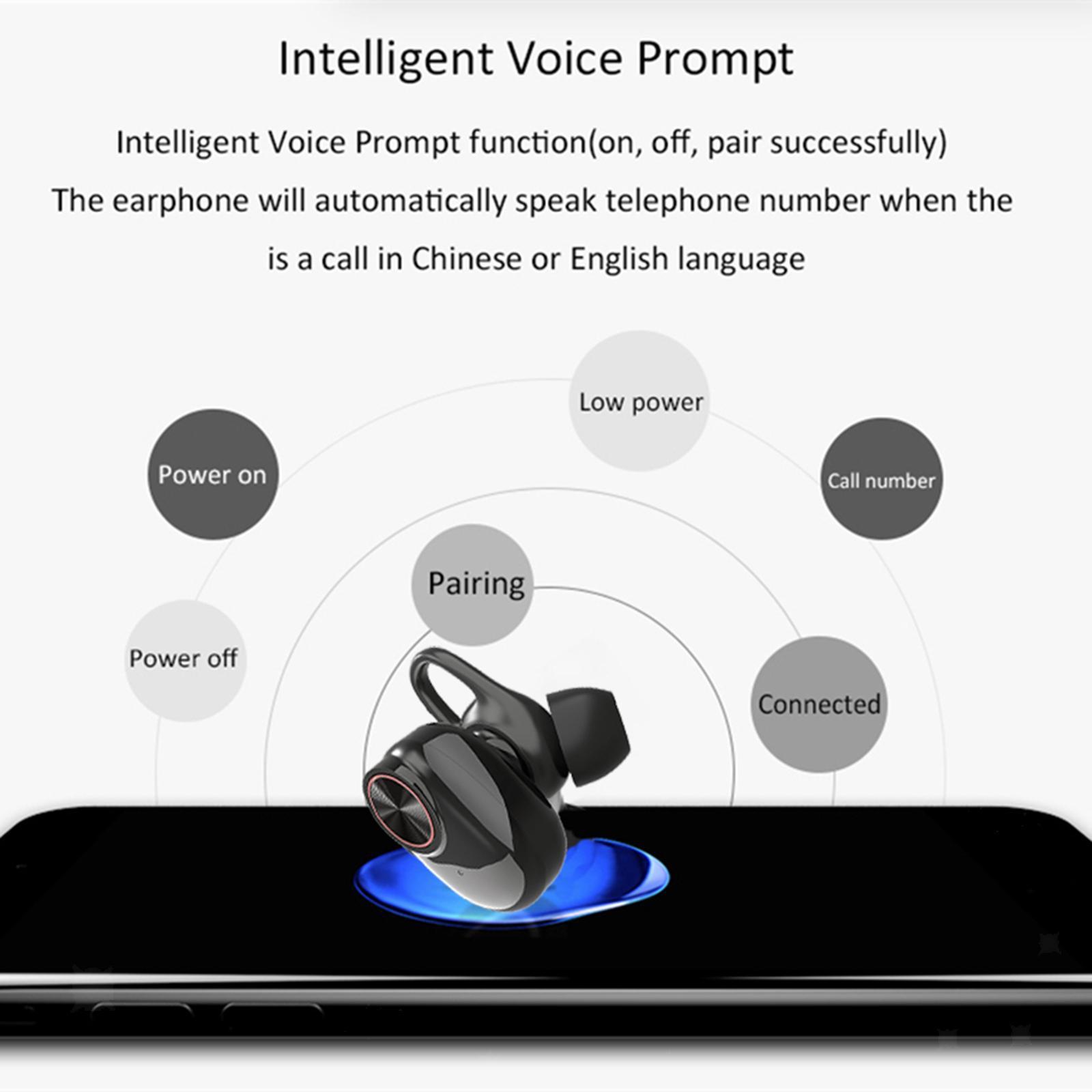 Mini-V5-Sport-Ture-Stereo-Senza-Fili-Bluetooth-TWS-Auricolari-Della-Cuffia-con miniatura 5