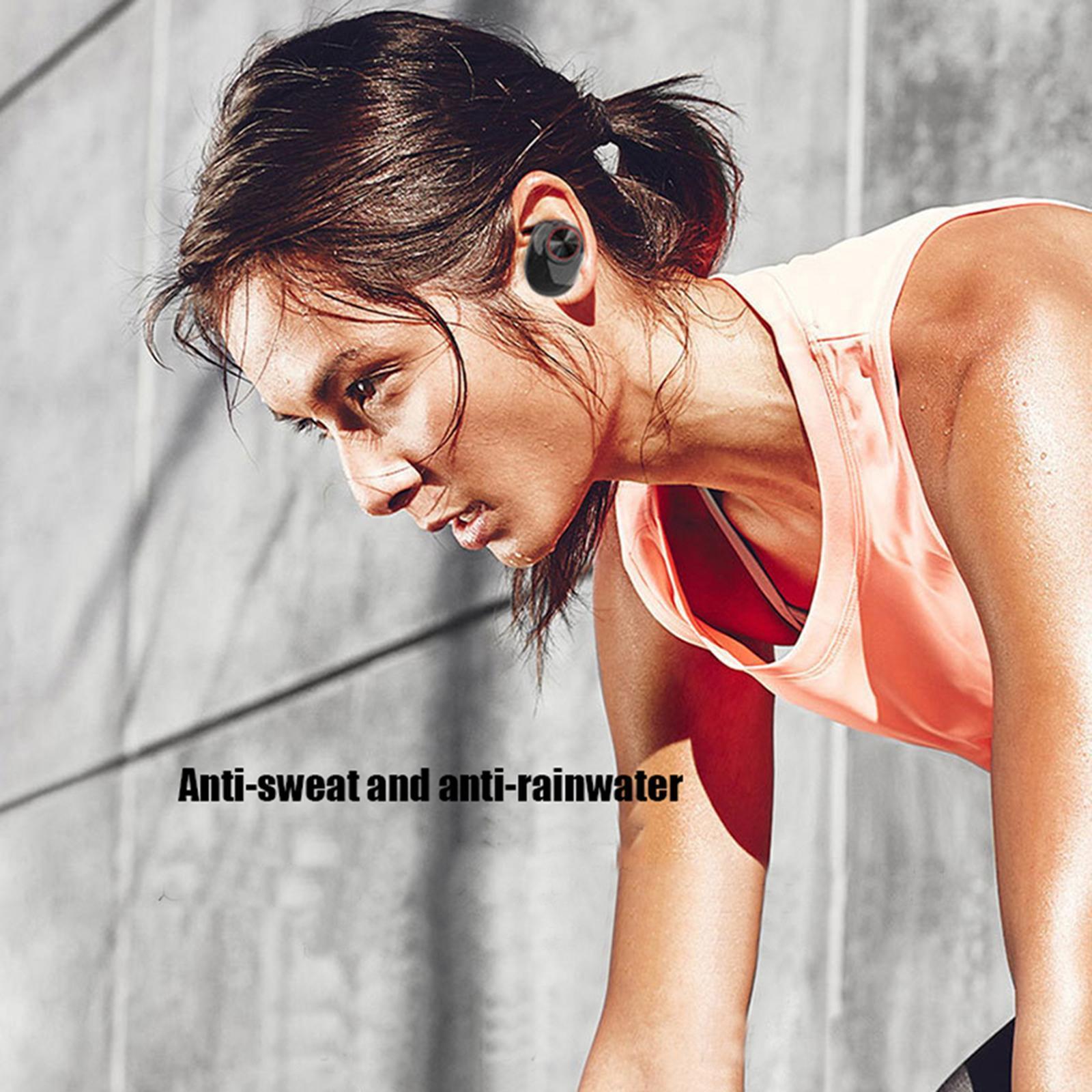 Mini-V5-Sport-Ture-Stereo-Senza-Fili-Bluetooth-TWS-Auricolari-Della-Cuffia-con miniatura 13
