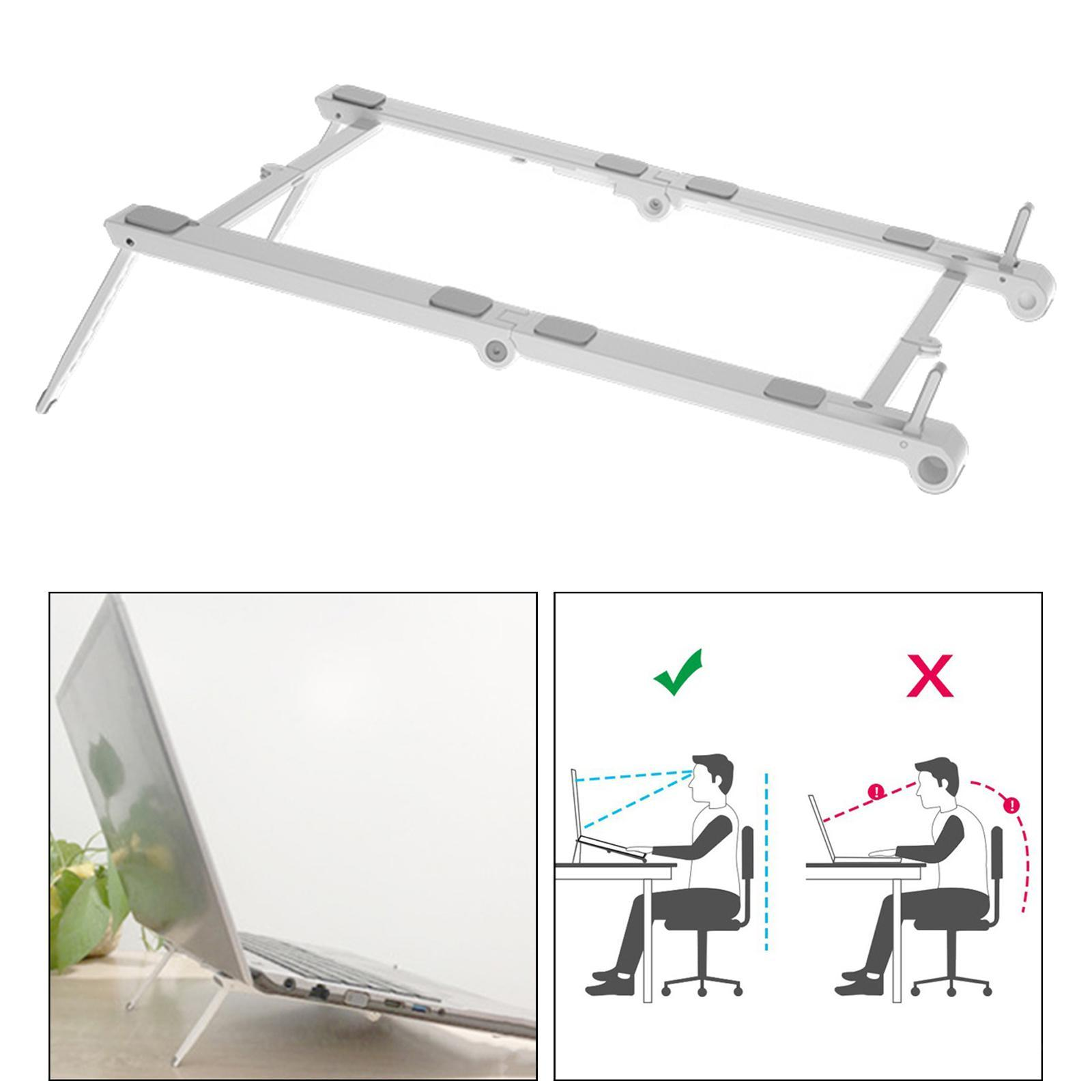 thumbnail 5 - 3 in1 Adjustable Laptop Stand Ergonomic Folding Hollow Radiating for Bracket