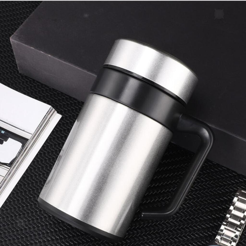 Stainless-400ml-Vacuum-Thermal-Cup-Insulated-Travel-Coffee-Mug-w-Tea-Filter thumbnail 12