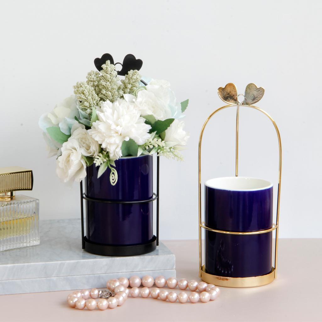 New Straw Woven Flower Vase Basket Plant Green Decorative Garden Home Holder