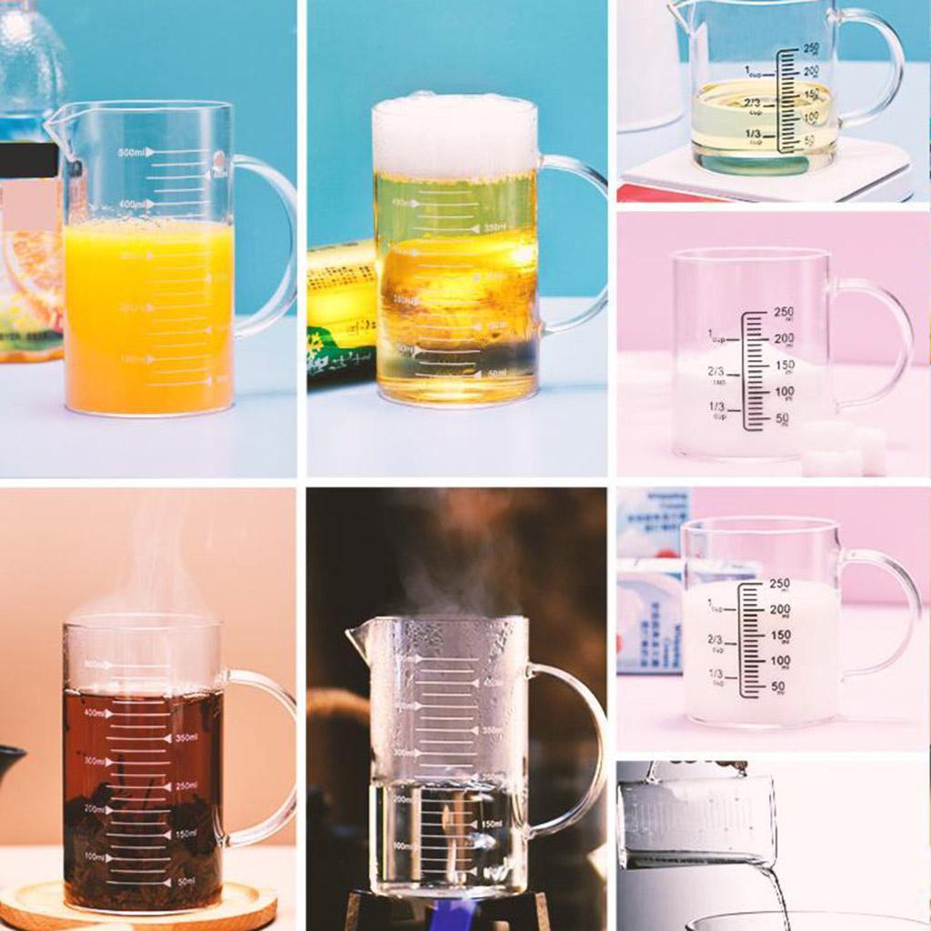 Misurino-in-vetro-borosilicato-con-intervalli-di-250-500ML-Accessori-da-cucina miniatura 13