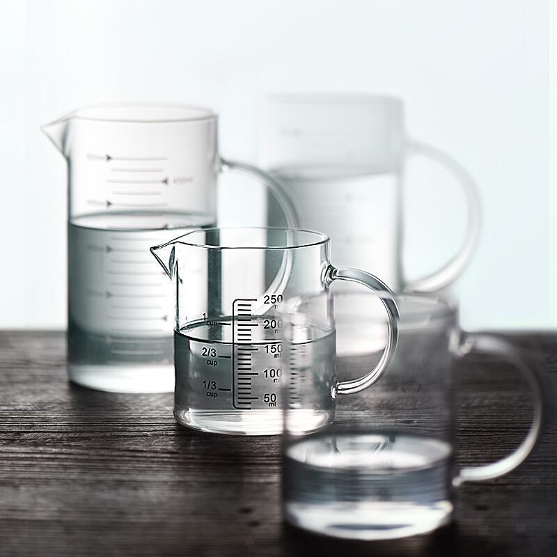 Misurino-in-vetro-borosilicato-con-intervalli-di-250-500ML-Accessori-da-cucina miniatura 3