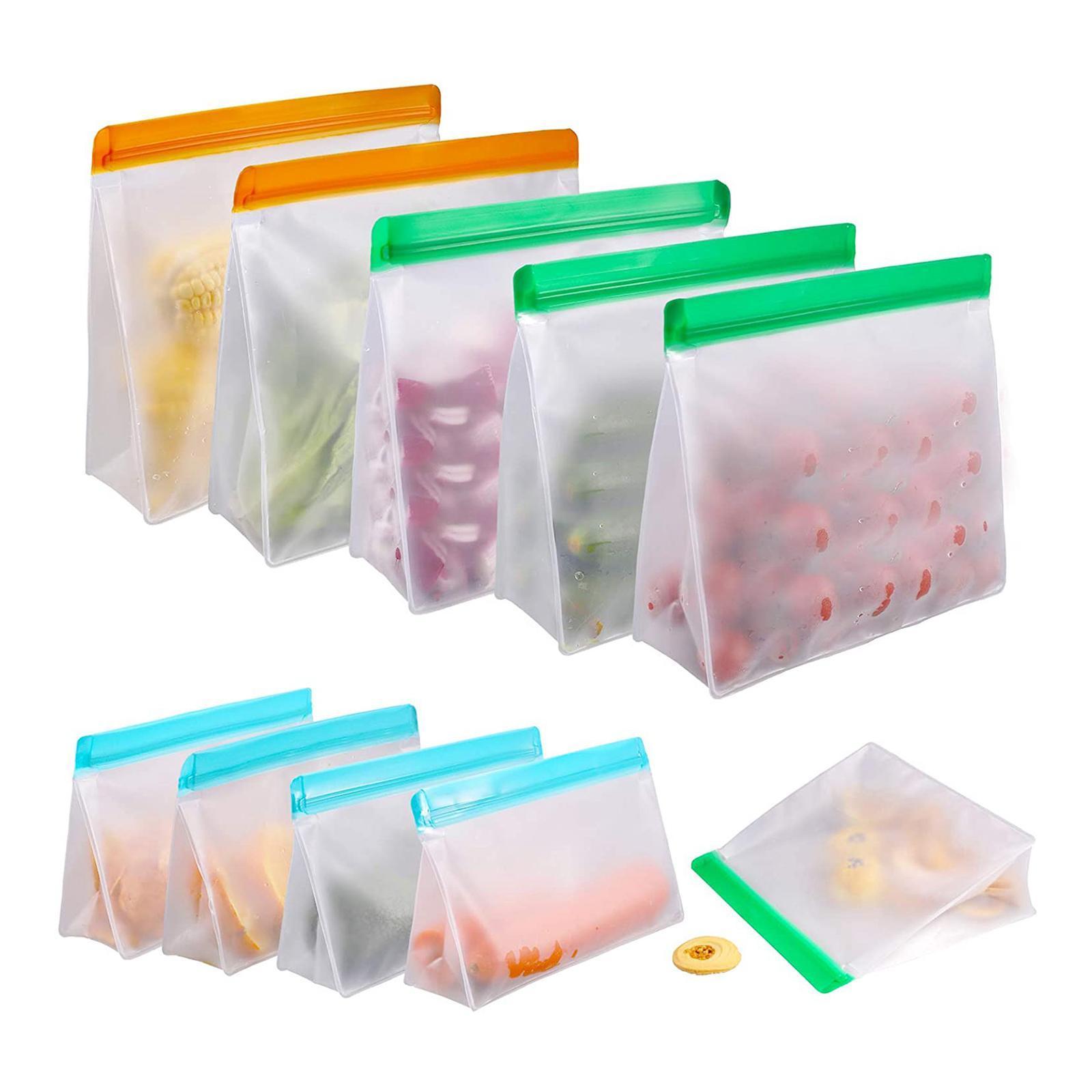 3-pezzi-di-Cibo-Sacchetto-di-Immagazzinaggio-Fresco-PEVA-Carne-Frutta-BPA-Libero miniatura 50