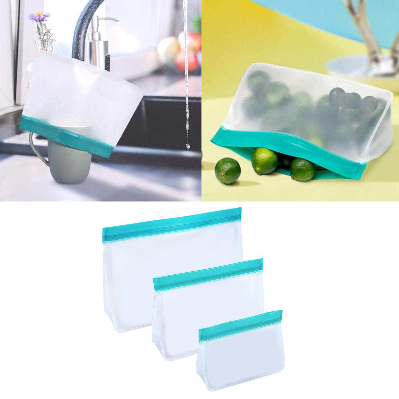 3-pezzi-di-Cibo-Sacchetto-di-Immagazzinaggio-Fresco-PEVA-Carne-Frutta-BPA-Libero miniatura 40