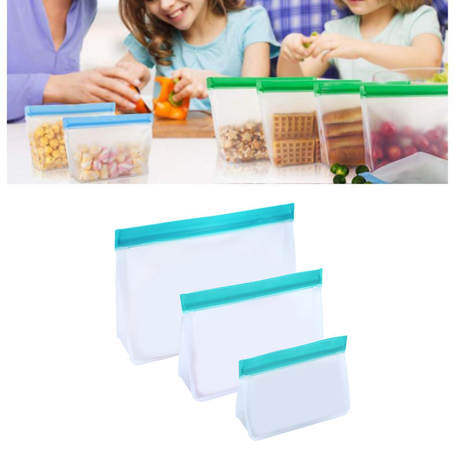 3-pezzi-di-Cibo-Sacchetto-di-Immagazzinaggio-Fresco-PEVA-Carne-Frutta-BPA-Libero miniatura 41