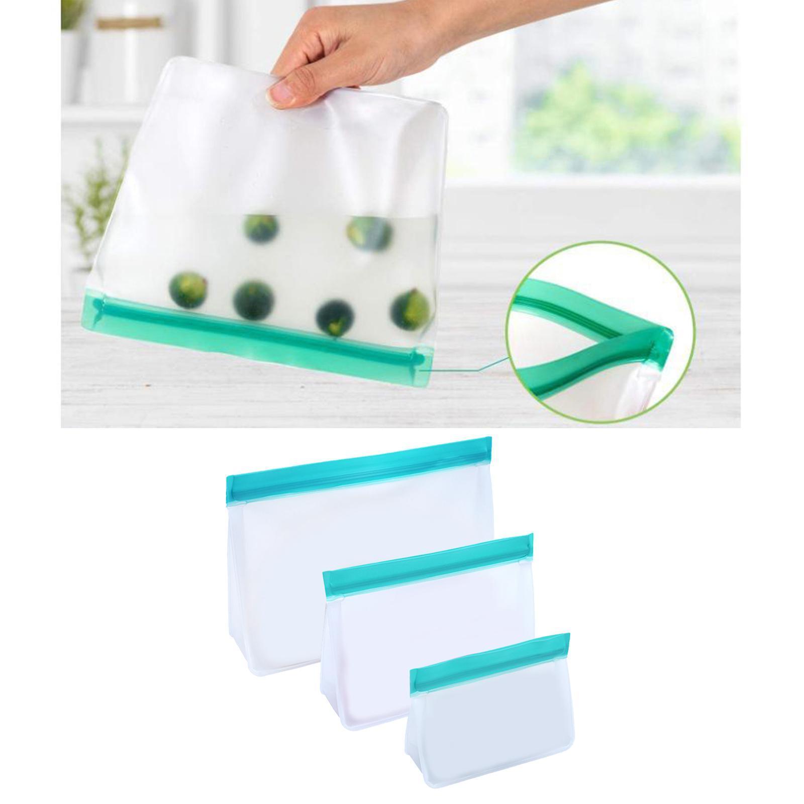 3-pezzi-di-Cibo-Sacchetto-di-Immagazzinaggio-Fresco-PEVA-Carne-Frutta-BPA-Libero miniatura 42