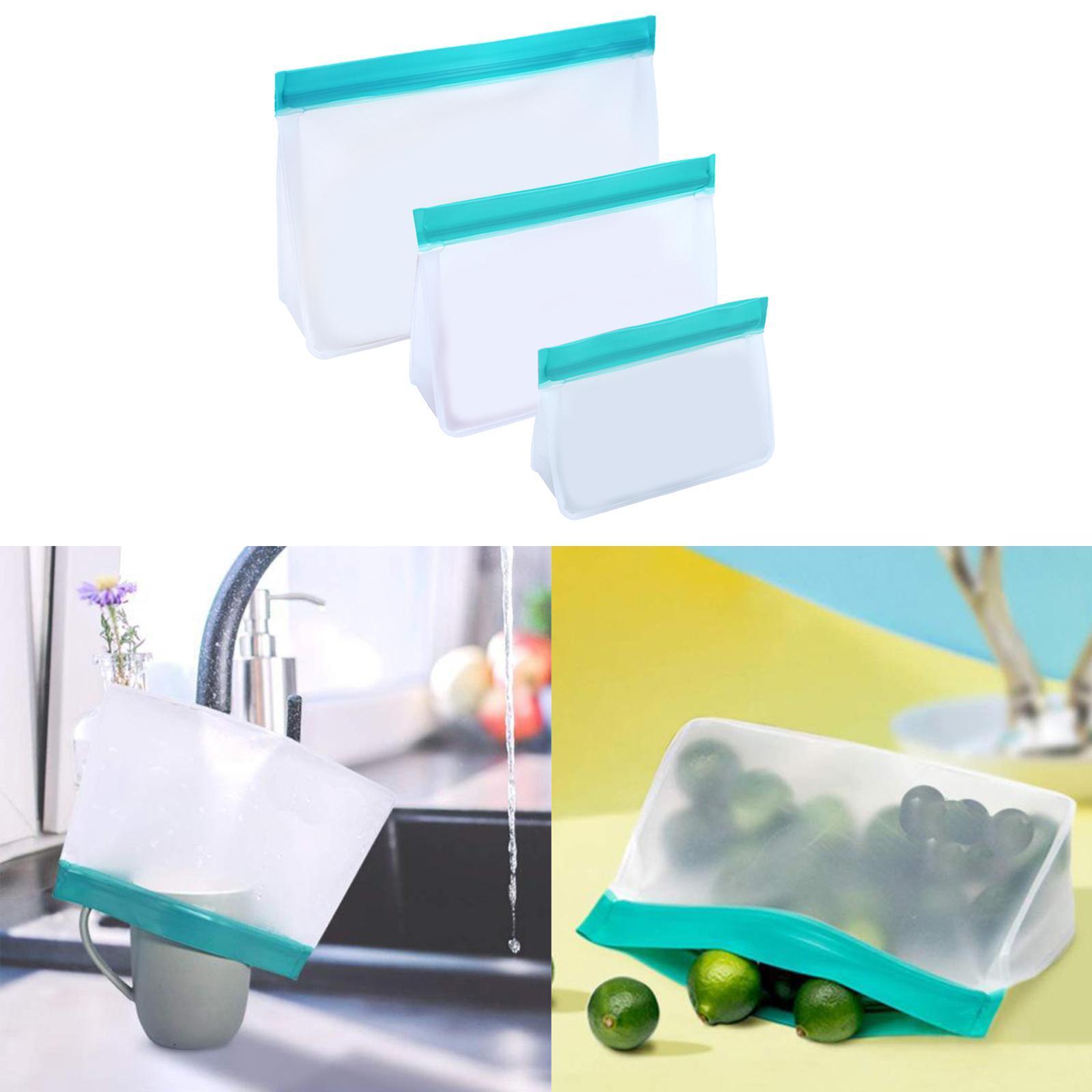 3-pezzi-di-Cibo-Sacchetto-di-Immagazzinaggio-Fresco-PEVA-Carne-Frutta-BPA-Libero miniatura 43