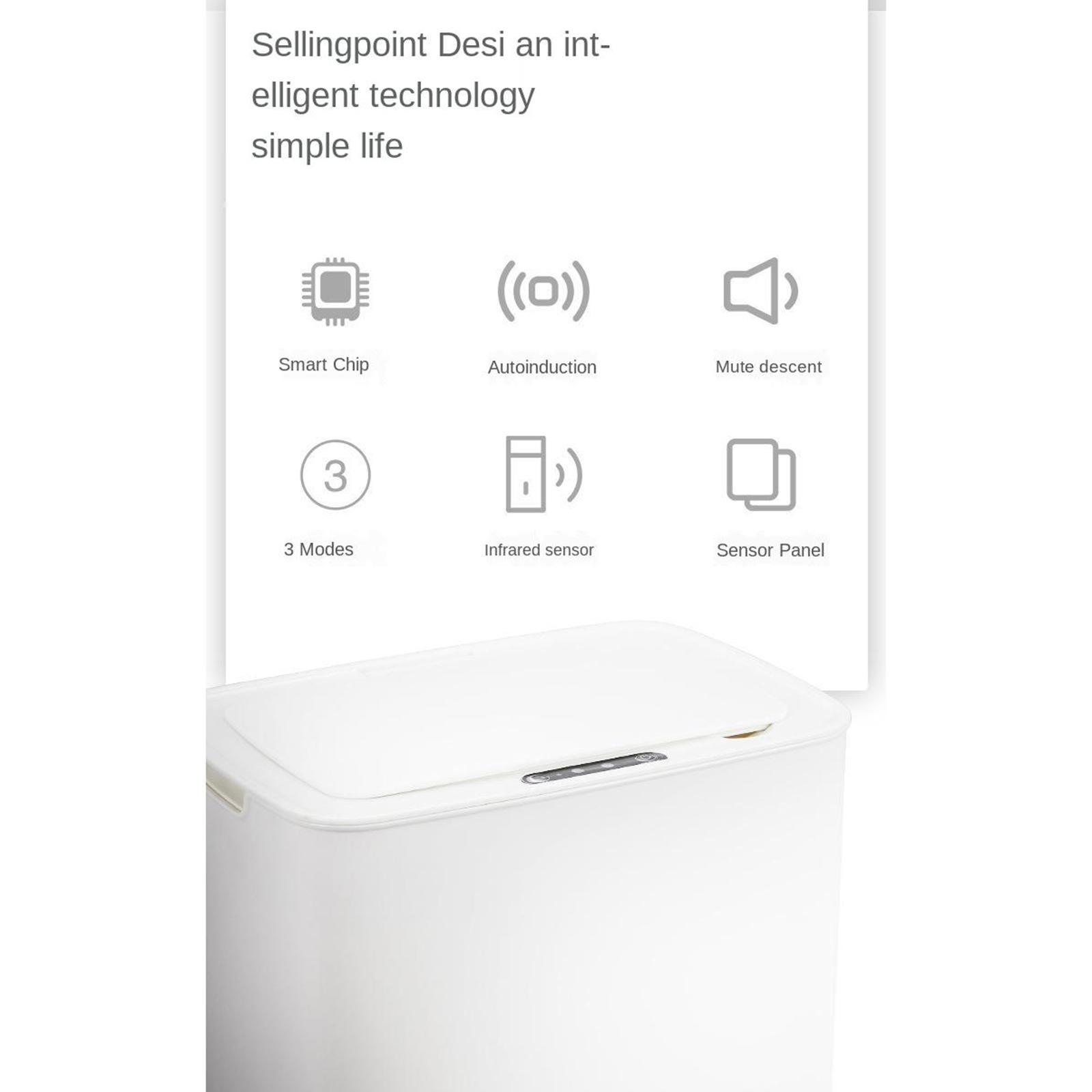 14L Auto Trash Can Smart Motion Sensor Office Automatic with Lid Kitchen