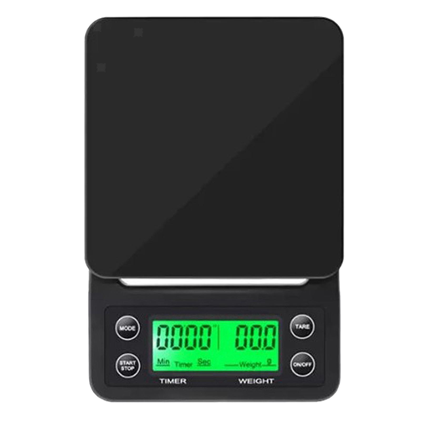 thumbnail 17 - Electronic LCD Digital Kitchen Food Scale Drip Coffee Weighing with Timer(Green)