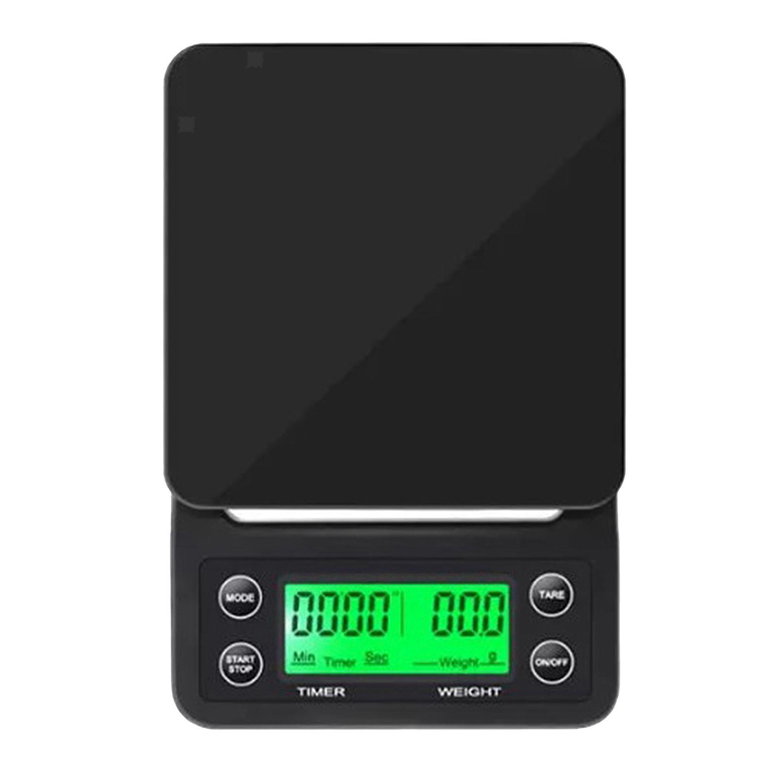 thumbnail 19 - Electronic LCD Digital Kitchen Food Scale Drip Coffee Weighing with Timer(Green)