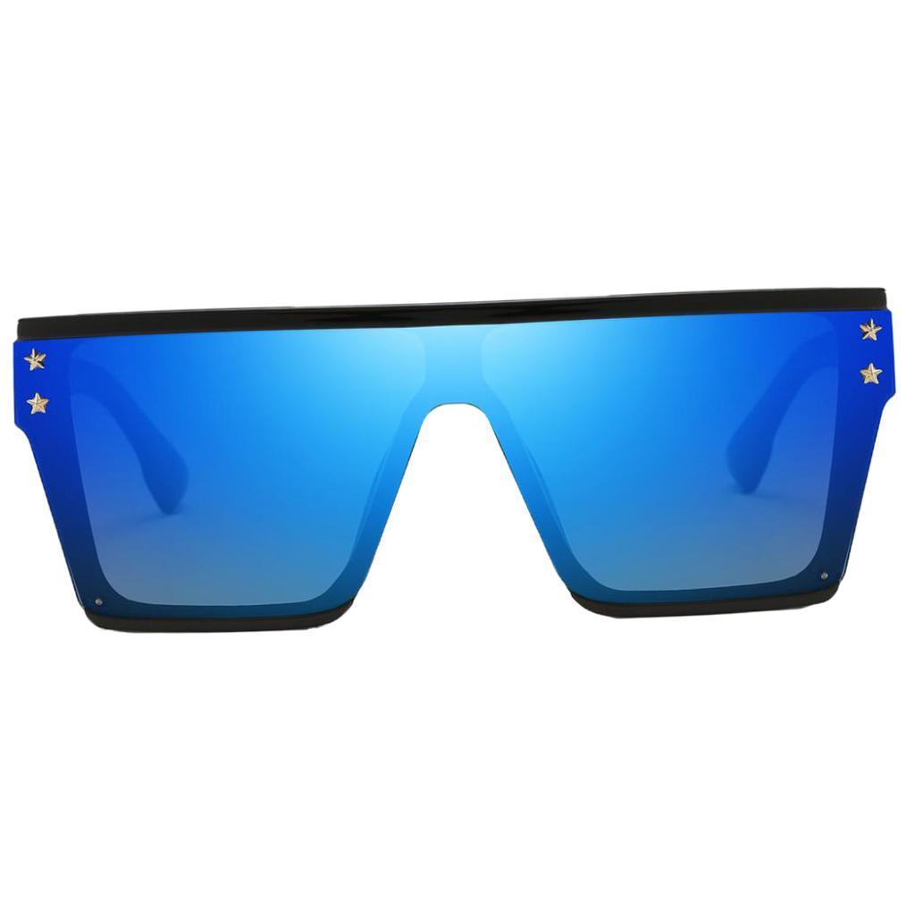Square-Oversize-Sonnenbrillen-Fashion-Flat-Top-UV400-Sonnenbrille-fuer Indexbild 7