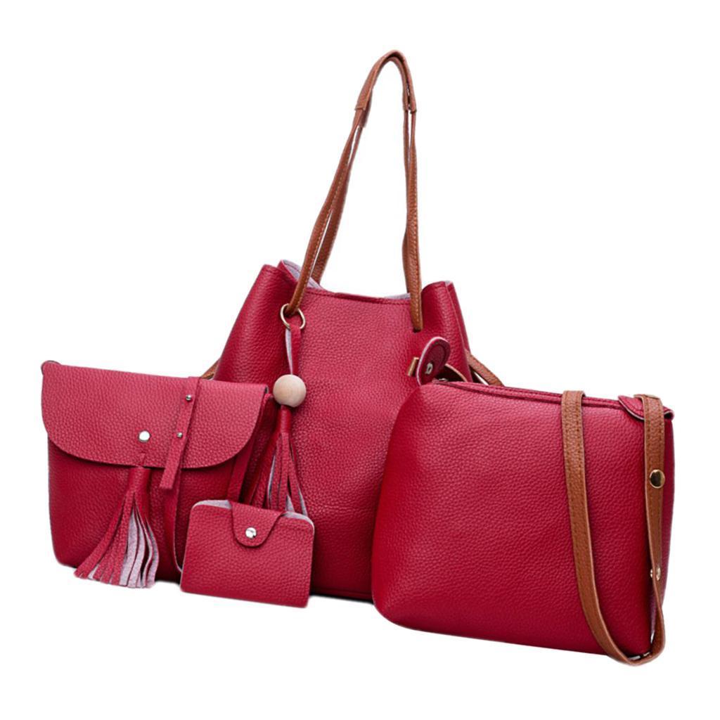 4Damen-Handtasche-mit-Perlenanhaenger-Elegant-Taschen-Shopper-Schultertasche Indexbild 4