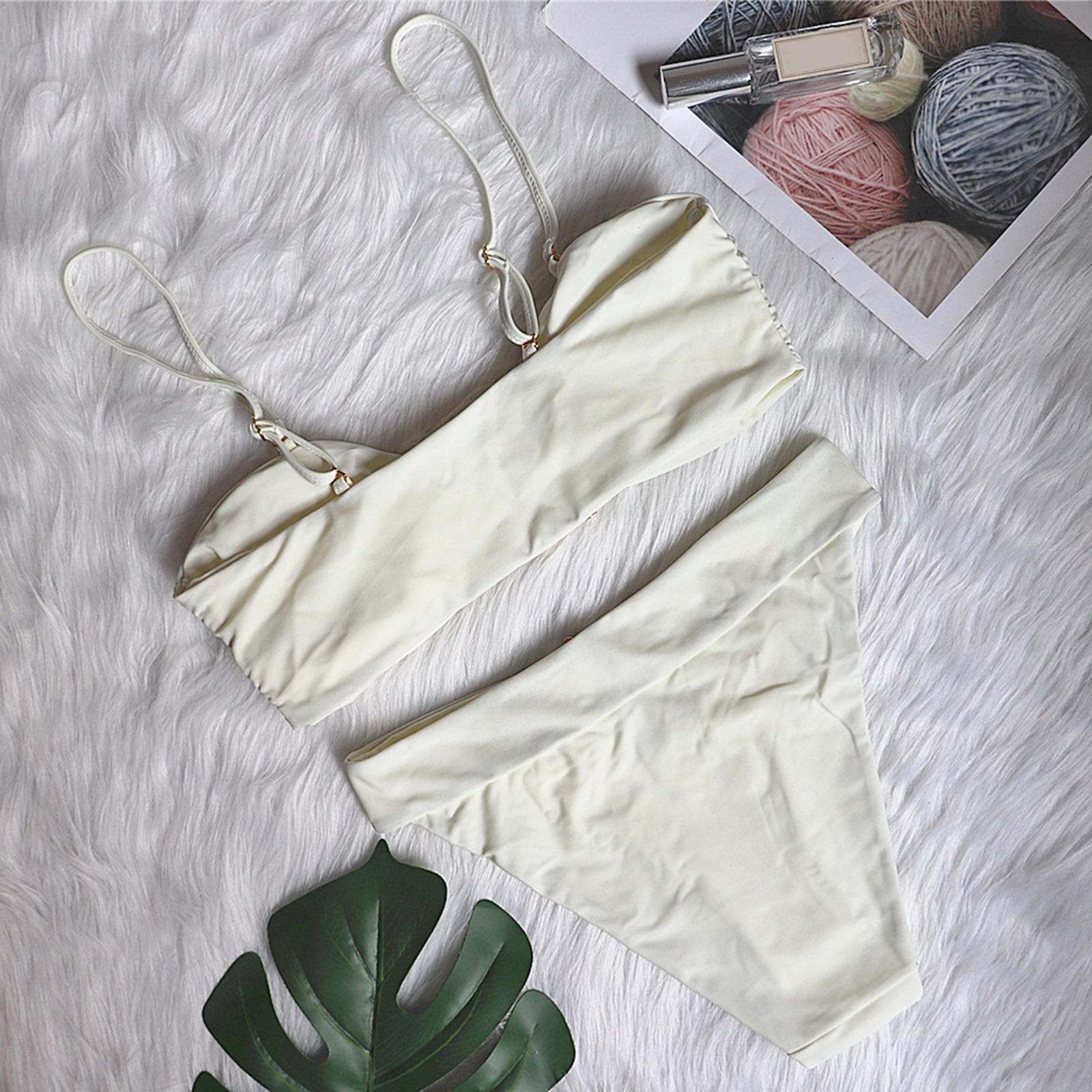 Indexbild 7 - Zwei Stücke Bikini Set Strappy Bademode Party Badeanzug Tankini Bademode