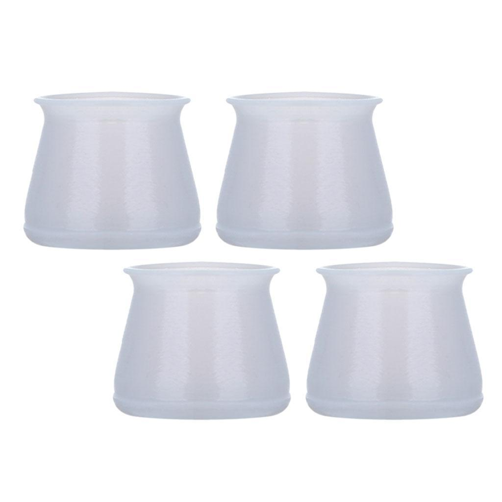 4pcs Metal Wooden Chair Leg Caps Soft Silicone Patio Stool