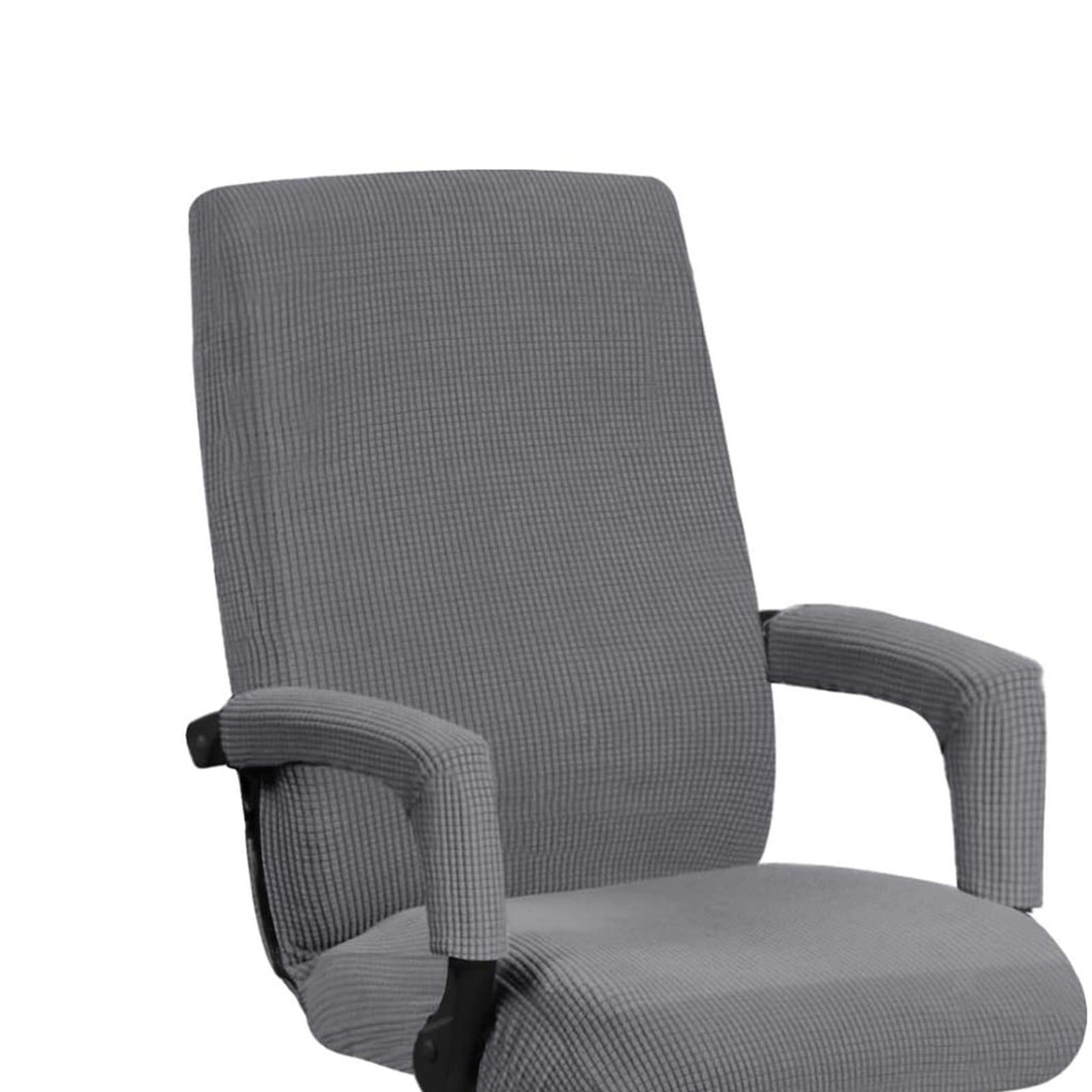 miniature 19 - Housses de chaise de bureau contemporaines à dossier haut et 2 housses de bras