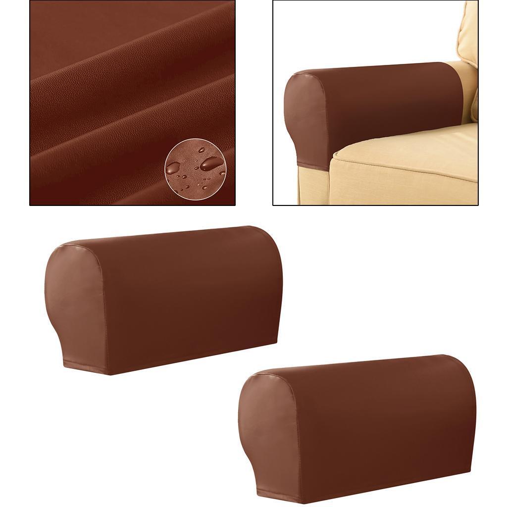 miniatura 6 - Stretch In Tessuto Bracciolo Copre Mobili Protezione Divano Poltrona Fodere