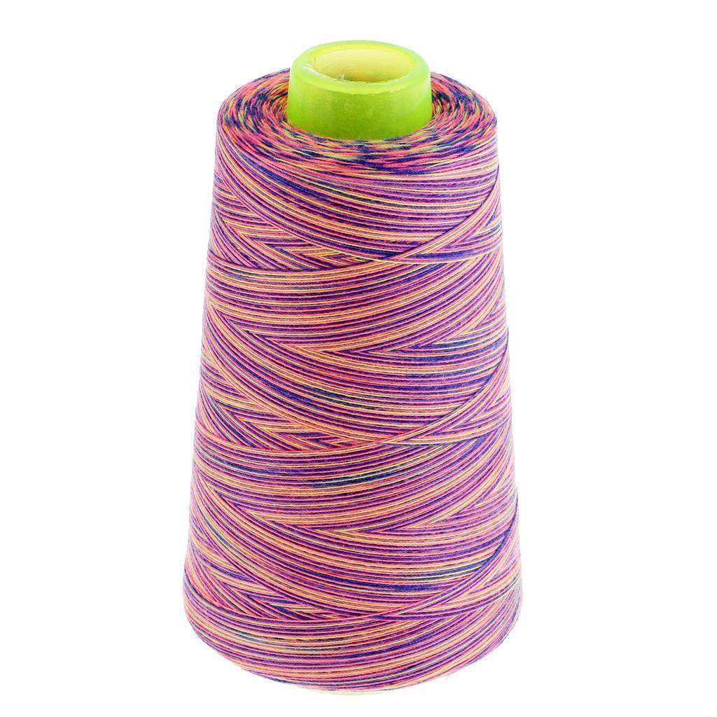 PETSOLA 10 Rolls Rainbow Polyester Cross Stitch 40S//2 Floss Stitch Thread Overlocking Durable