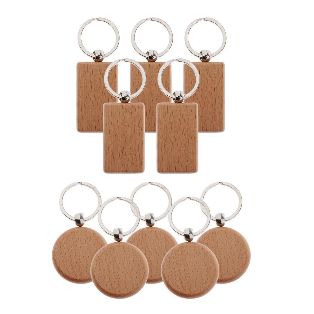 5Pcs-Plain-Blank-Wooden-Key-Chain-Key-Ring-Key-Tags-DIY-Findings-for-Wood-Crafts thumbnail 4