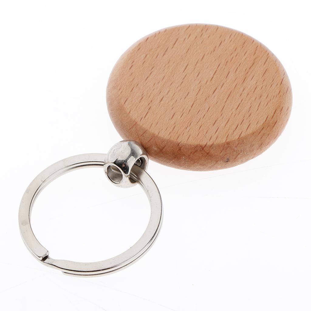 5Pcs-Plain-Blank-Wooden-Key-Chain-Key-Ring-Key-Tags-DIY-Findings-for-Wood-Crafts thumbnail 3