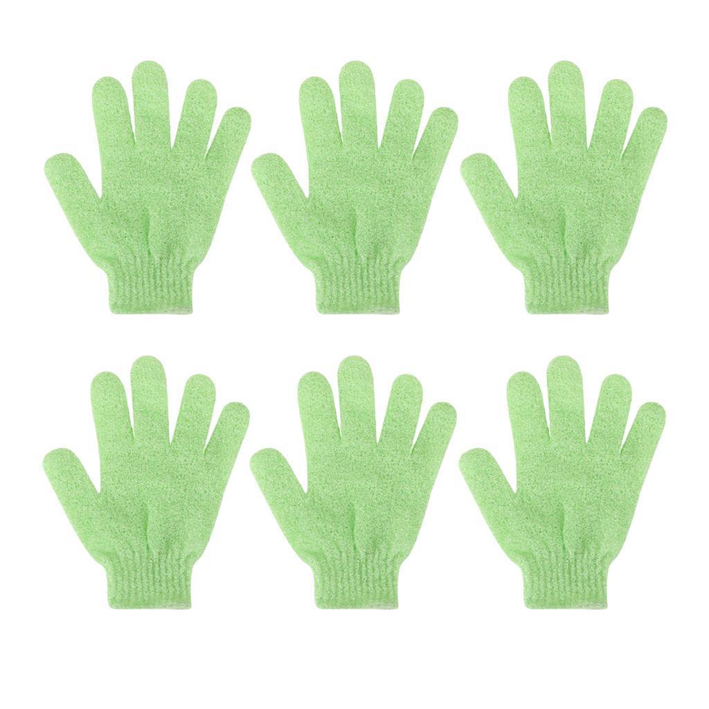 miniatura 17 - 3 Paia Di Guanti Esfolianti Per Il Corpo Body Spa Glove Dry Skin Brush Scrubber