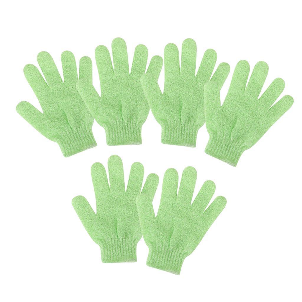 miniatura 15 - 3 Paia Di Guanti Esfolianti Per Il Corpo Body Spa Glove Dry Skin Brush Scrubber